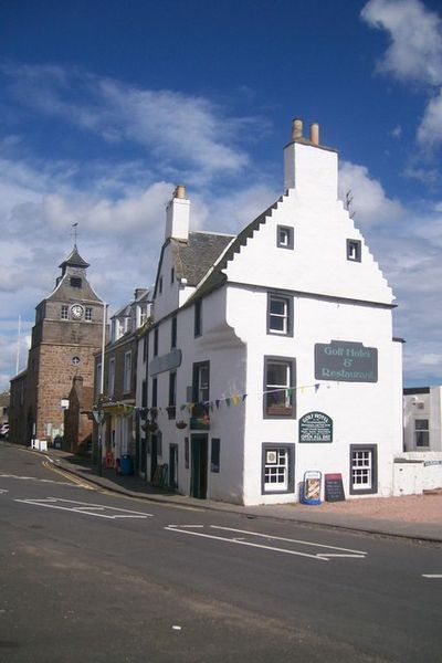 The Golf Hotel and the Tolbooth, Crail, Scotland.