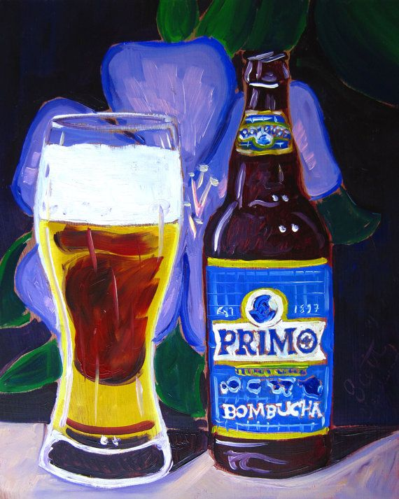 Beer Oil Painting of Hawaii Primo Island Lager by RealArtIsBetter