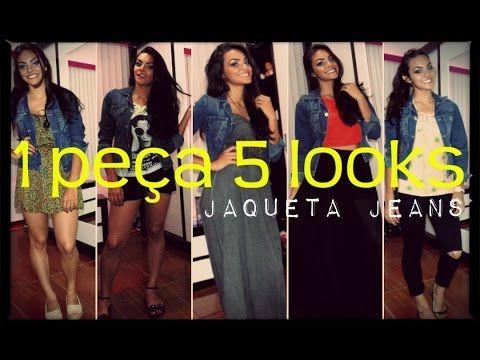 1 peça 5 looks - Jaqueta Jeans #Dezembrotododia24