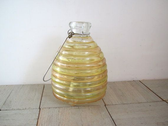 Hey, I found this really awesome Etsy listing at https://www.etsy.com/listing/169191298/vintage-bee-catcher-glass-jar-insect
