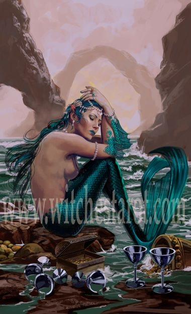 98 Best Mermaid Tarot Cards Images On Pinterest