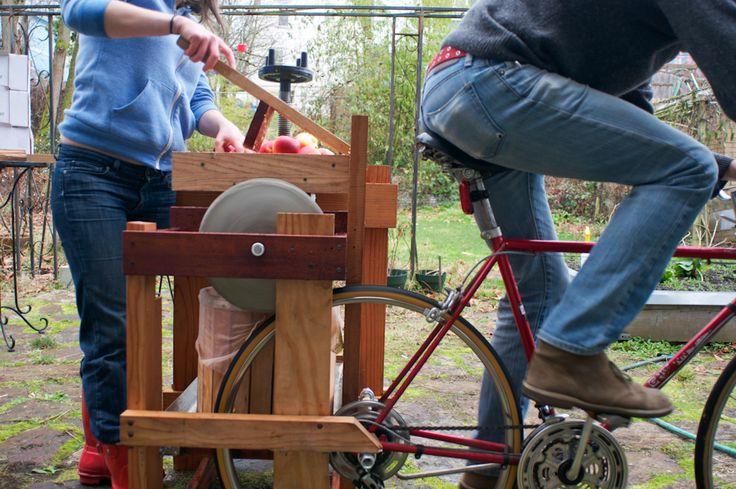 bicycle Apple cider press
