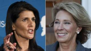 Trump picks Nikki Haley and Betsy DeVos as first women for cabinet
