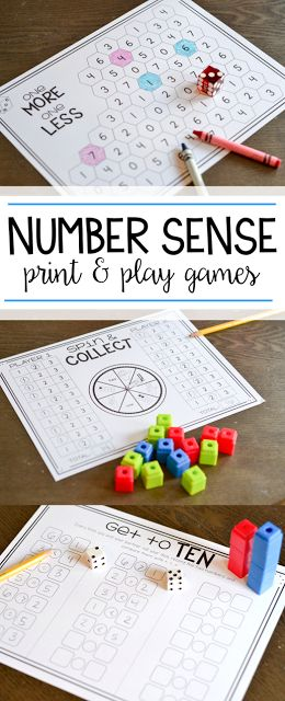I am loving these easy number sense games for kindergarten and first grade! These print and play activities are in black and white and are perfect for teaching students number sense within 20.