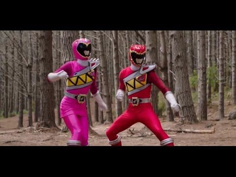 Power Rangers Dino Charge -  Powers From The Past - Red and Pink Rangers...