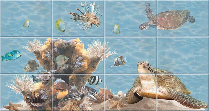 БерезаКерамика Лазурь Морской мир