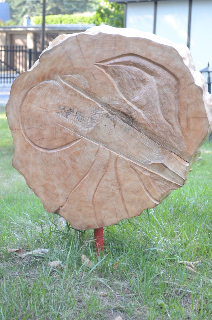 Aphrodite And Abstract July 2015 ash 120cm diameter Woodcarved