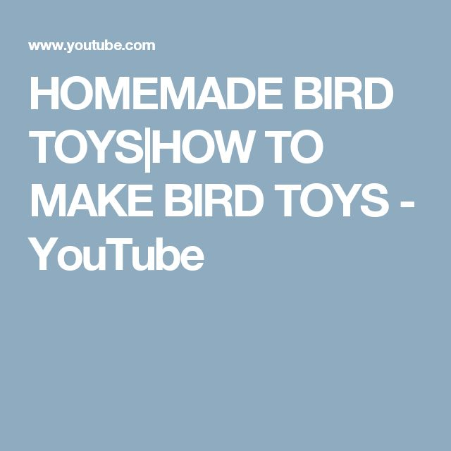 HOMEMADE BIRD TOYS|HOW TO MAKE BIRD TOYS - YouTube