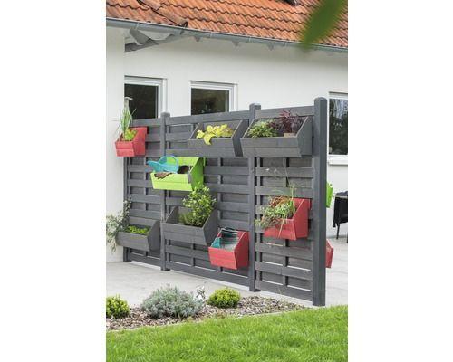 Hochbeet Vertikal Hochbeetkasten Fur Zaunelement Joris 48x20 5x37 Cm Schwedenrot Zaun Pflanzenkasten Gartenparadies