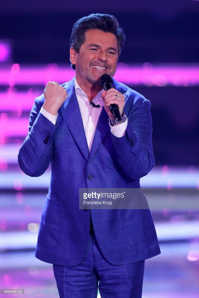 Thomas Anders during the television show 'Willkommen bei Carmen Nebel' on April 8, 2017 in Magdeburg, Germany.