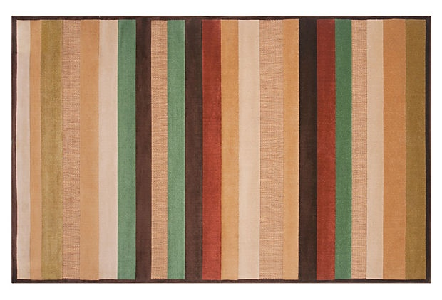 Jude Outdoor Rug, Bronze/Multi. (5'x7.5' size: $135) The rugs render earth-friendly utterly chic, with vibrant designs woven from recycled materials and then finished by hand. They're reversible (for an easy style switch-up) and durable enough for the outdoors yet refined enough for inside the house. Lastly, the rugs are lightweight, so they're great for picnics.