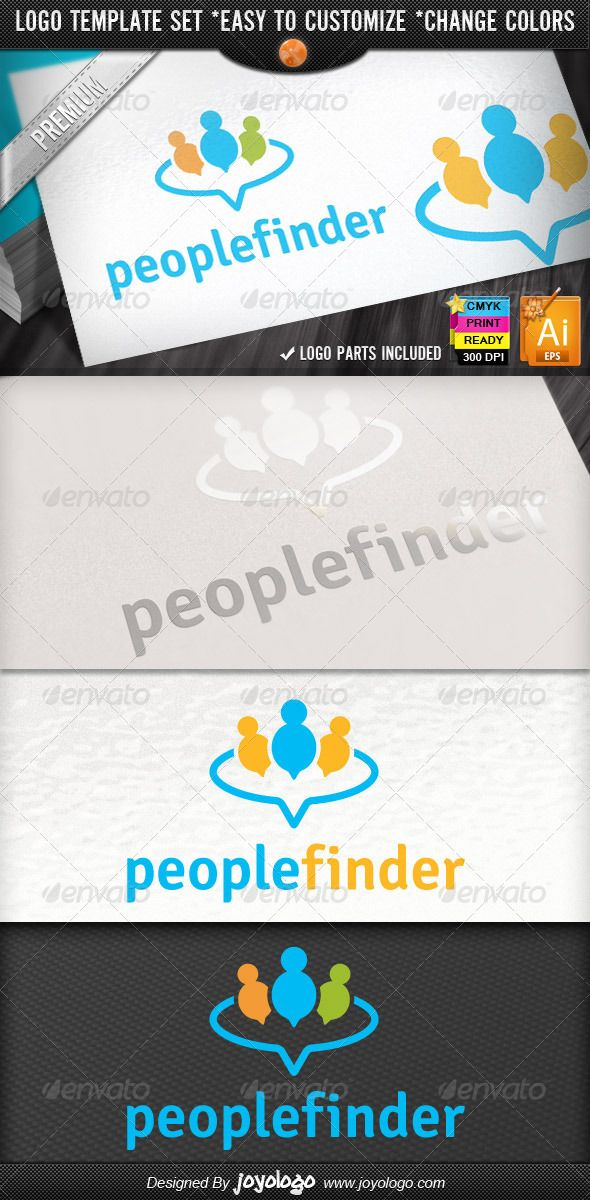 Circle Applications Social Chat People Finder Logo — Vector EPS #speaking #chat Logo • Available here → https://graphicriver.net/item/circle-applications-social-chat-people-finder-logo/2523093?ref=pxcr