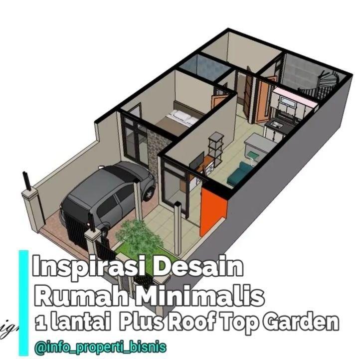 Inspirasi Desain Rumah 1 Lantai Plus Roof Top Garden Ukuran Lahan 6m X 12m Luas 72m2 Luas Bangunan 51 M2 Estimasi Biaya Bangun Rp Desain Rumah Rumah Bangunan