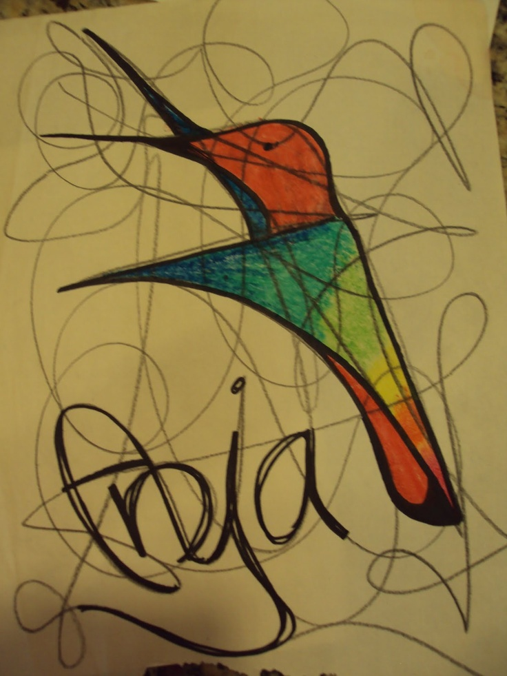 Scribble Drawing Art Therapy : Scribbling is like brainstorming a warm up sometimes