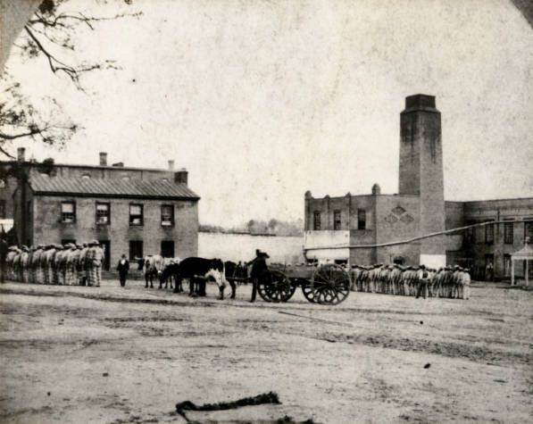 """Texas State Penitentiary at Huntsville, circa 1880- talked about in Weston Family Series (books). Author Judith McNaught commented: """"During the Civil War, the prisoners seeded cotton to be turned into clothes, blankets, etc"""