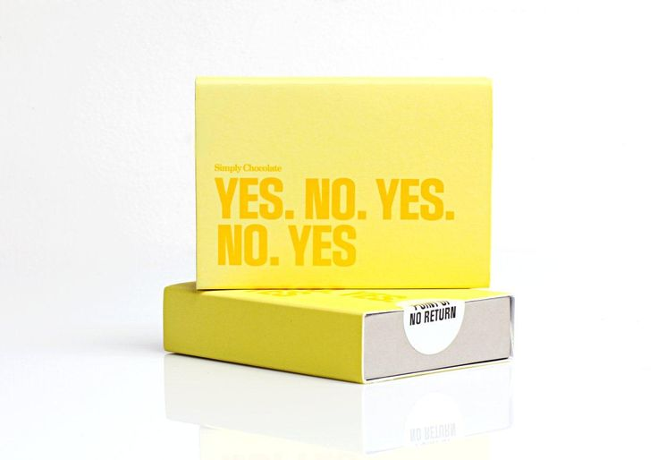 @Simply Chocolate #SimplyChocolate #Chocolate #Easter #No #Yes #Packaging #Design