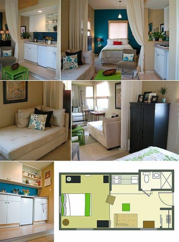die besten 25 einzimmerwohnung einrichten ideen auf. Black Bedroom Furniture Sets. Home Design Ideas