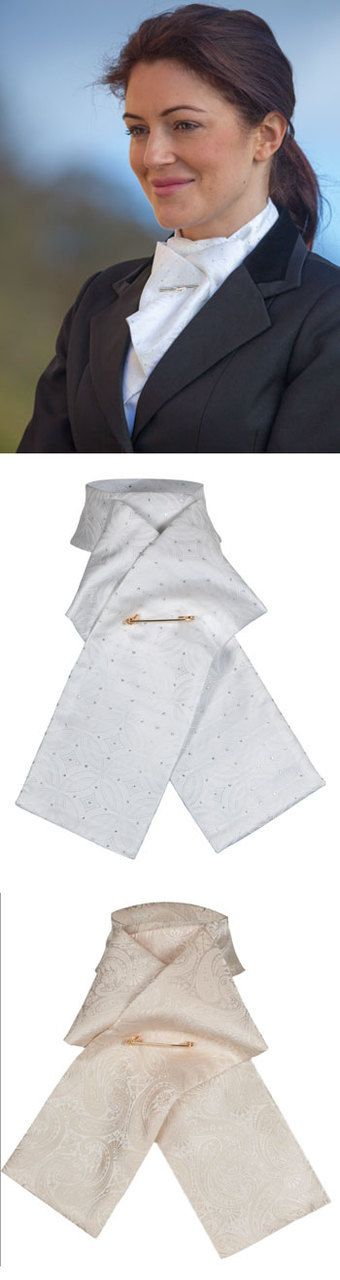 English Tack Store - Shires Ready Tied Brocade Stock Tie (http://www.englishtackshop.com/shires-ready-tied-brocade-stock-tie/)