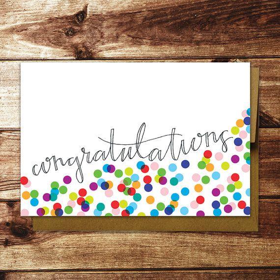 Congrats Confetti Card - 4 Pack