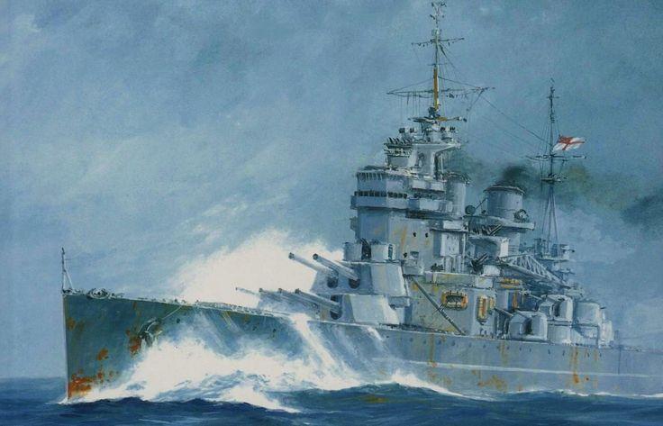 HMS King George V. Es una de las clases de acorazado que mas me gustan.
