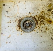 Preventing Rust stains in sinks and showers!