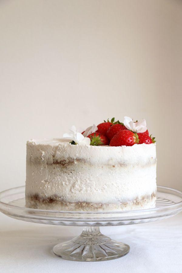 Strawberry Coconut Sponge Cake (gluten-free & vegan) - Nirvana Cakery