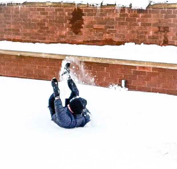Having fun with snows.