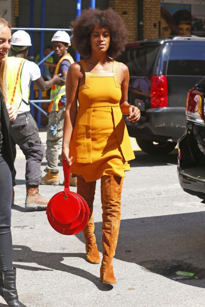 Photos : Solange Knowles : Rétro Ou Glamour, Un Vrai Caméléon À New York !