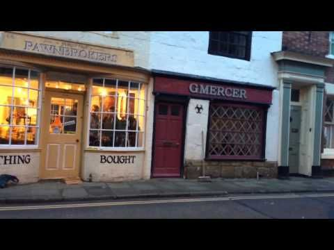 Dad's Army pre-filming set dressing in Bridlington Old Town
