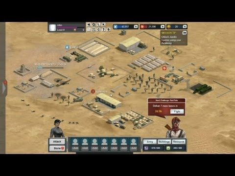 Thunder Run War of Clans - gameplay - Thunder Run: War of Clans is a Facebook based social game, Massively Multiplayer Online Real Time Strategy (MMORTS, MMO, RTS), free to play on Facebook, from SpinPunch.