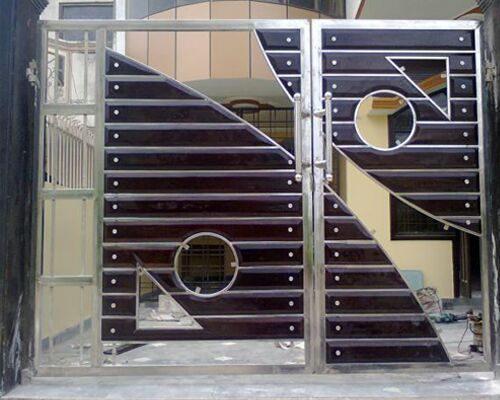 Attractive Wooden Front Gate Designs Fabricated Gates Wooden Gate Manufacturer From Chennai