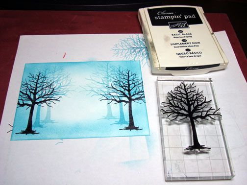 "Impression Obsession ""Branches of a Tree"" & Close to My Heart ""Warm Memories"", michelle zindof tutorial"