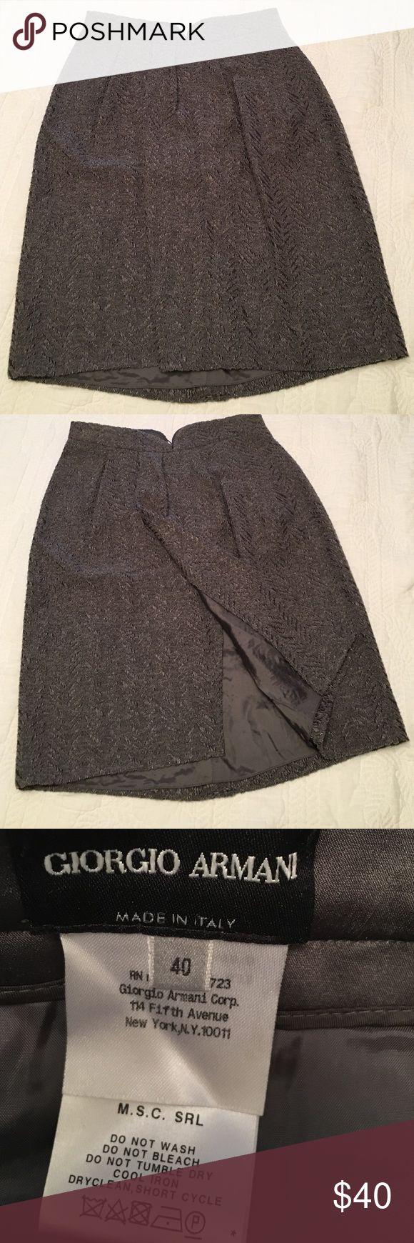 Giorgio Armani skirt Beautiful and unique front slip skirt Giorgio Armani Skirts A-Line or Full