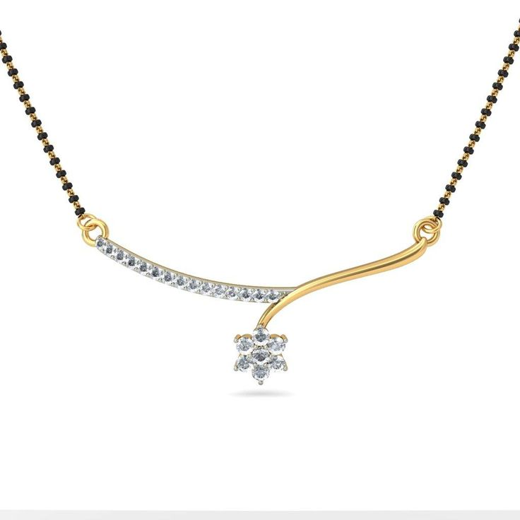 Diamond Mangalsutra Designs India The Favorite Of Modern