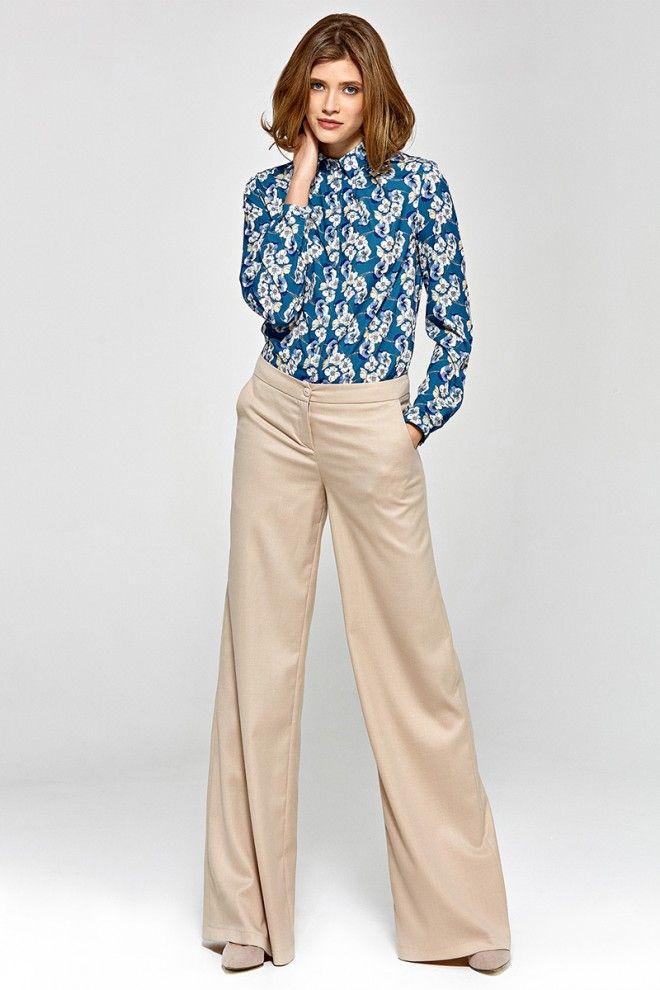 Klasyczne Spodnie Z Wysokim Stanem Csd02 Bez Blouses For Women Women Blouse