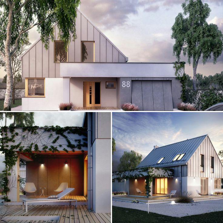 Projekt Antara (116,38 m2). Pełna prezentacja projektu dostępna jest na stronie: www.domywstylu.pl... #antara #domywstylu #mtmstyl #projekty #projektygotowe #dom #domy #projekt #budowadomu #budujemydom #design #newdesign #home #houses #architecture #architektura