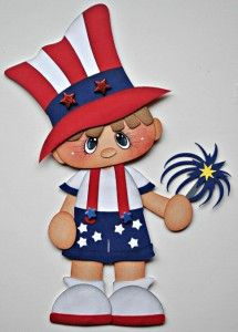 paper piecing 4th of july | Details about ELITE4U JULY 4TH BOY paper piecing premade scrapbook ...