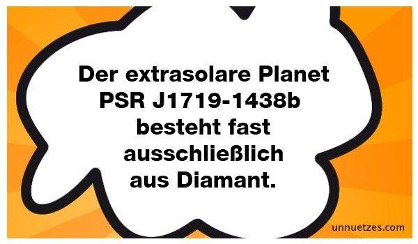 Mit einem Durchmesser von 60.00 Km (ca. halb so groß wie Jupiter) und der Dichte 23 Gramm pro Kubikzentimeter wird mit großer Wahrscheinlichkeit davon ausgegangen, dass der Planet des zentralen Pulsars größtenteils aus kristallinem Kohlenstoff bzw. Diamant besteht.