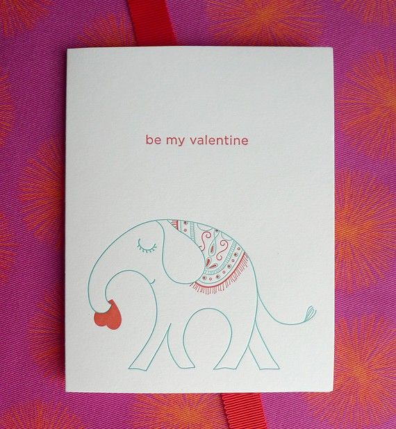 189 best images about Valentines Day Cards – Elephant Valentines Card