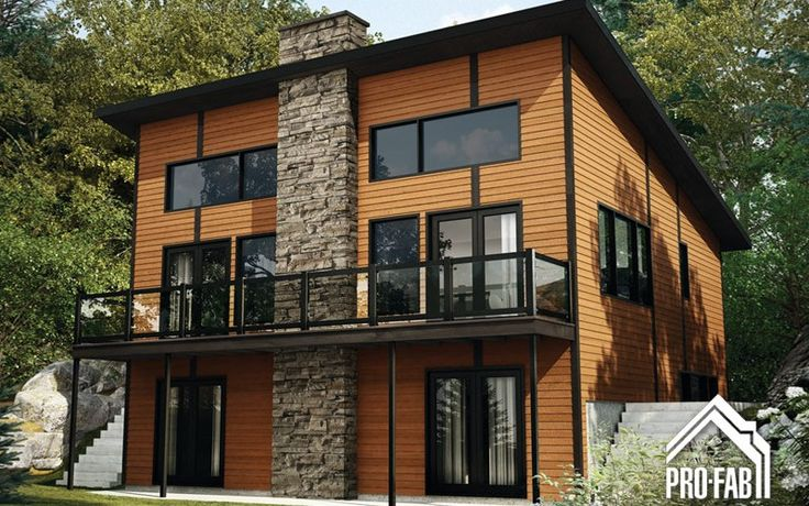 Horizon maison modulaire vendre pro fab maison for Chalet style homes with attached garage