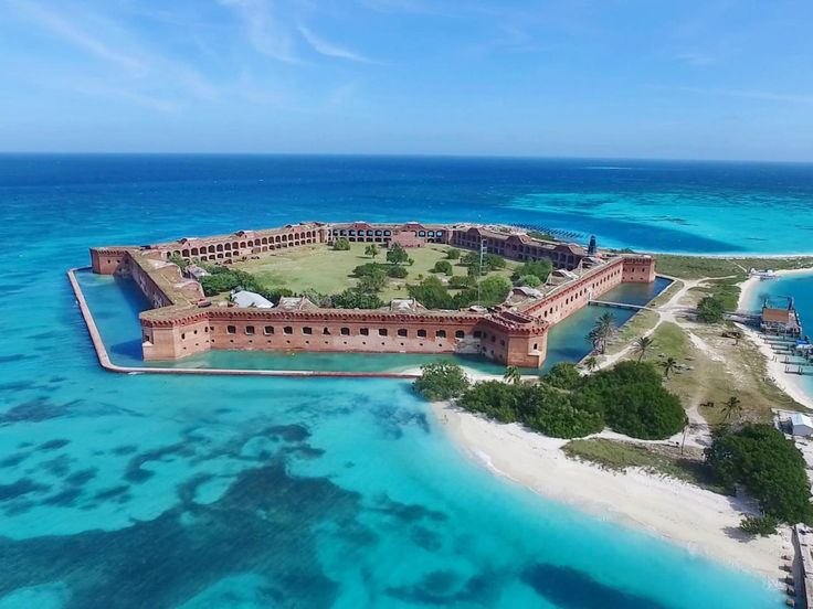 Located 70 miles west of Key West, the Dry Tortugas are one of the more remote tropical islands in the United States and home to Fort Jefferson, a massive unfinished 19th century military fort turned national park. Bring binoculars in the spring for birdwatching almost 300 migratory bird species and diving gear to explore underwater shipwrecks of centuries past.