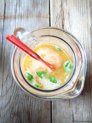Delicious blog: Ledový broskvový čaj se zázvorem
