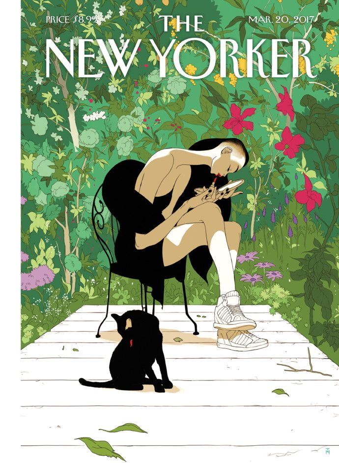 "The New Yorker ""Spring Awakening"" by Tomer Hanuka"