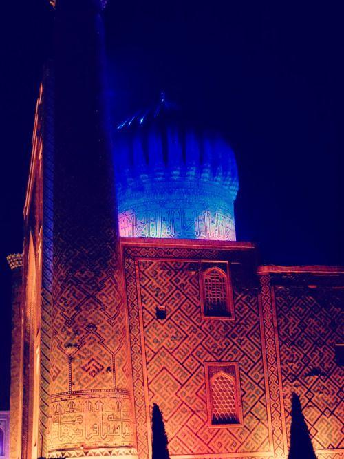 Uzbekistan - The Registan magic scenography in Samarkand