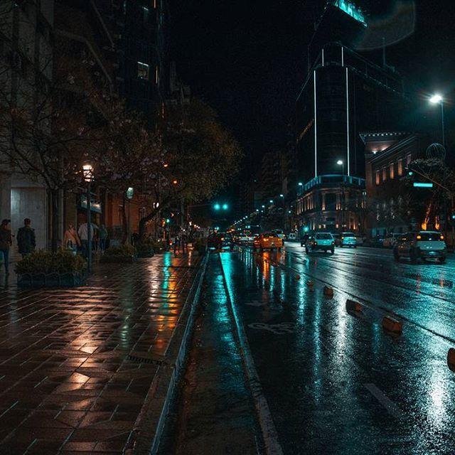 Una noche pateando bajo la lluvia #argentina360 #córdoba #honor9lowlight