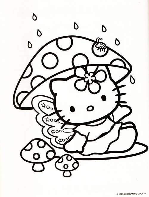 1000 images about kid zone colouring pages on pinterest for Hello kitty fall coloring pages