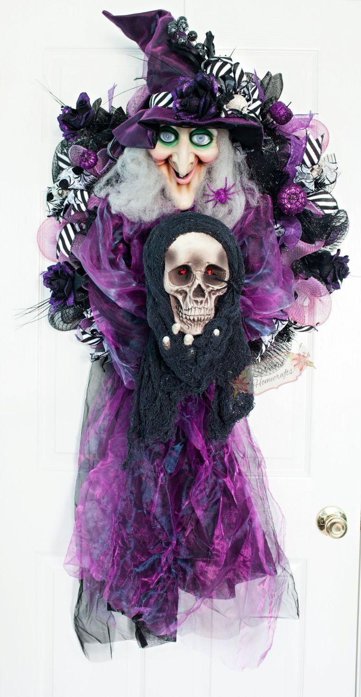 688 best halloween wreath images on Pinterest