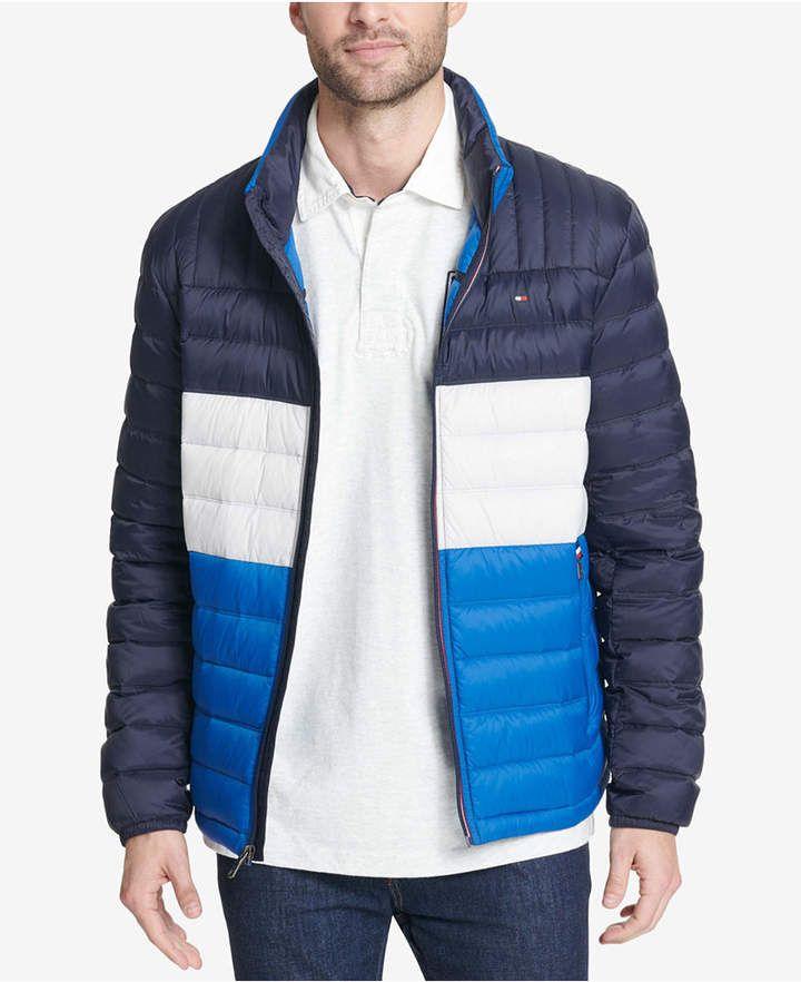Tommy Hilfiger Men Big Tall Packable Down Puffer Coat Jaqueta Camuflada Jaqueta Verde Jaqueta