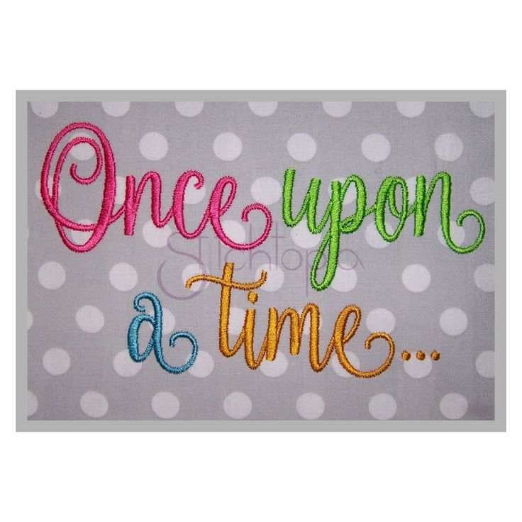 Stitchtopia Once Upon A Time Embroidery Font Set