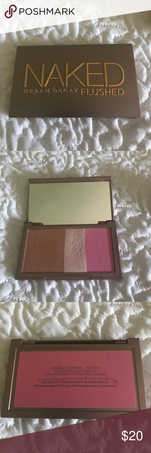 Urban Decay Naked Flushed Palette Used a handful of times and in great condition! Intact mirror, no box. In the shade Native. Better suited for medium skin tones. Urban Decay Makeup Blush